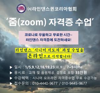 '라인댄스퀸코리아 온라인 자격증 수업 안내'